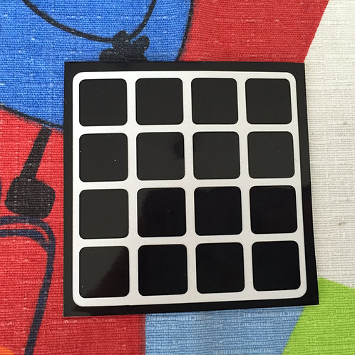 Cara 4x4 vinil negro