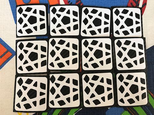 Stickers Megaminx fibra de carbono negro