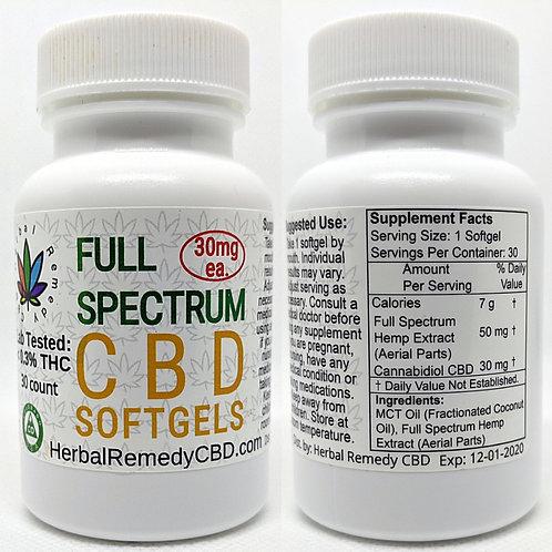 Full Spectrum CBD Softgels