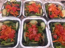 Fresh green salads