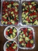 Cucumber, tomato salads
