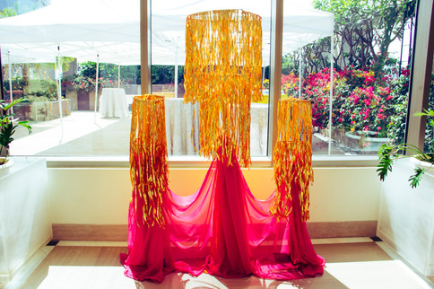A decor installation at a Mehendi Function