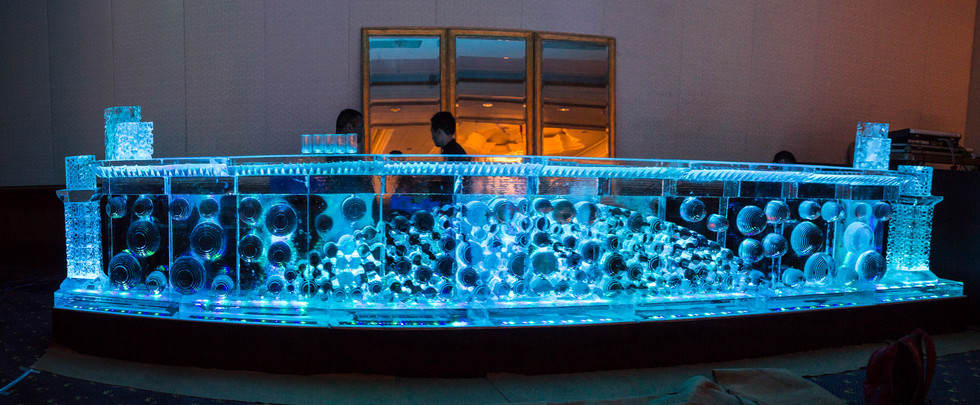 An exquisitely crafted Ice Bar for a wedding ceremony in Bangalore
