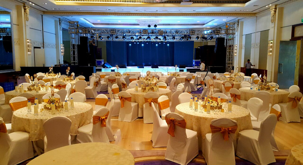 Venue fabrication for a corporate event in Bangalore