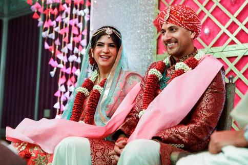Beautiful Indian couple at their wedding