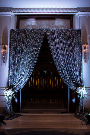 Bling entrance decor for a cocktail party