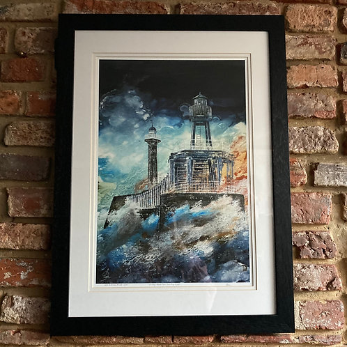 'Whitby West Pier Guiding Light' By David Hume