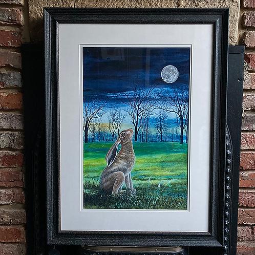 'Moon Gazing Hare 3' By David Hume