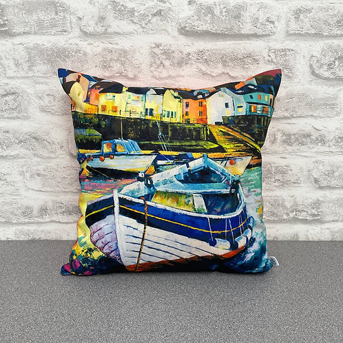 'Staithes Boats' Cushion
