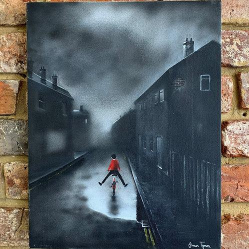 'Red Cyclist' By Shaun Tymon