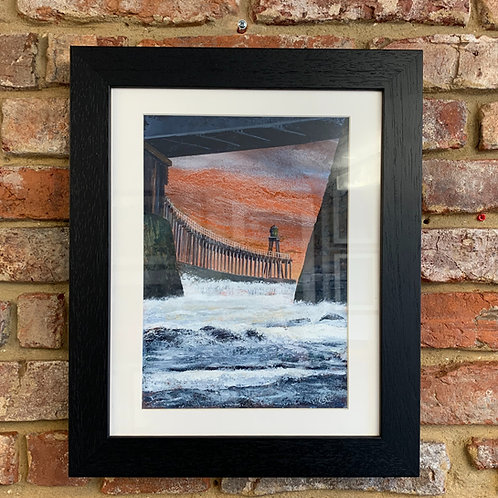 'Light Beacon West Pier Whitby' By David Hume