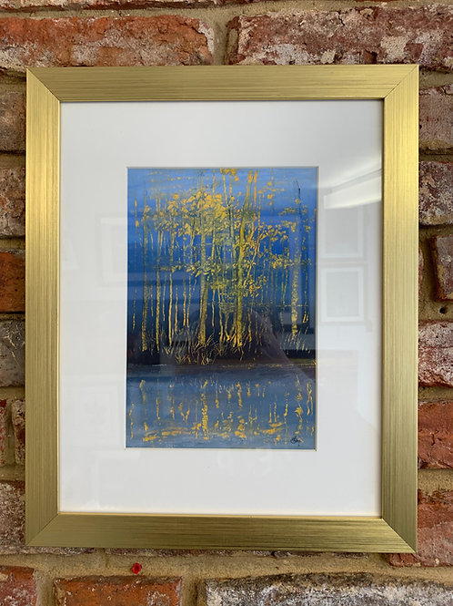 'Sgraffito Landscape Trees' By David Hume