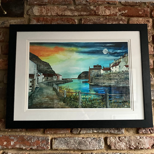 'Staithes Evening Calm' By David Hume