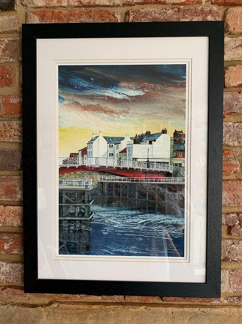 'Swing Bridge At Low Tide' By David Hume