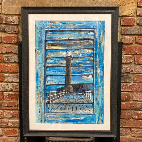 'Window Shutter West Pier Lighthouse' By David Hume