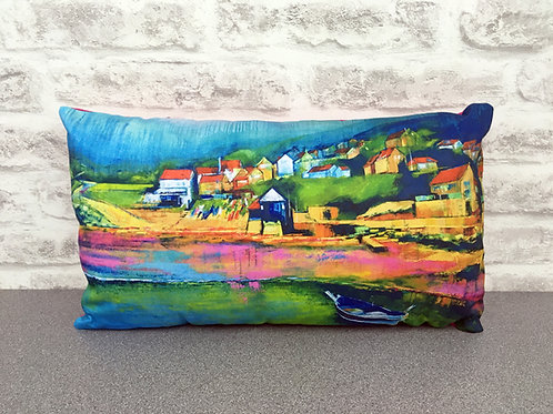 'Boat In The Bay' Cushion