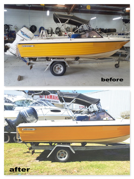 Original Sportscraft repowered with a brand new Yamaha F60LB Four Stroke Outboard