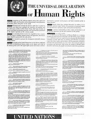 La declaración de derechos humanos. La déclaration universelle des droits humains. LIF