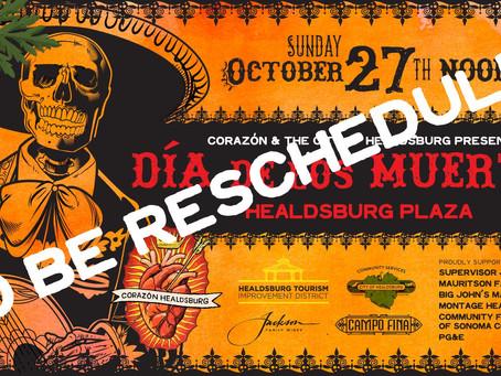 Día de los Muertos to be Postponed