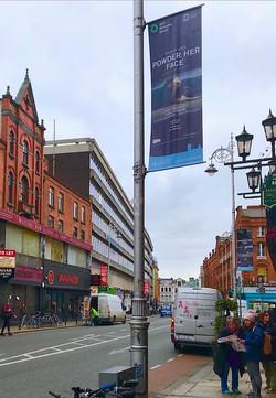 Civicmedia lamppost banners Dublin