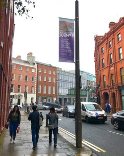 Dublin lamppost banners