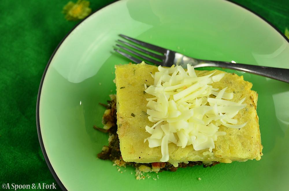 Lentil Mushroom Shepherdess Pie Plate Setting