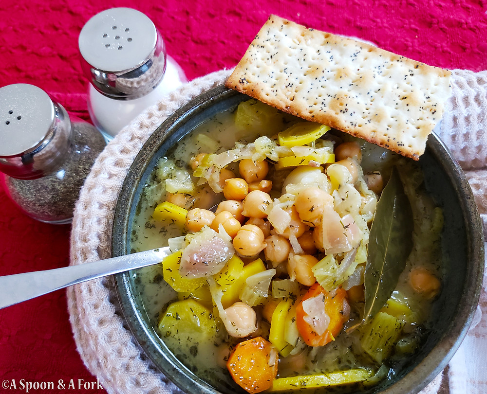 Homestyle Chickpea Soup overhead