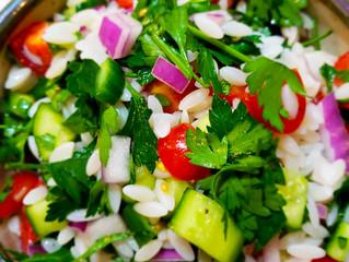 Israeli Salad with Orzo - Allergy-Friendly, Vegan, Gluten-Free