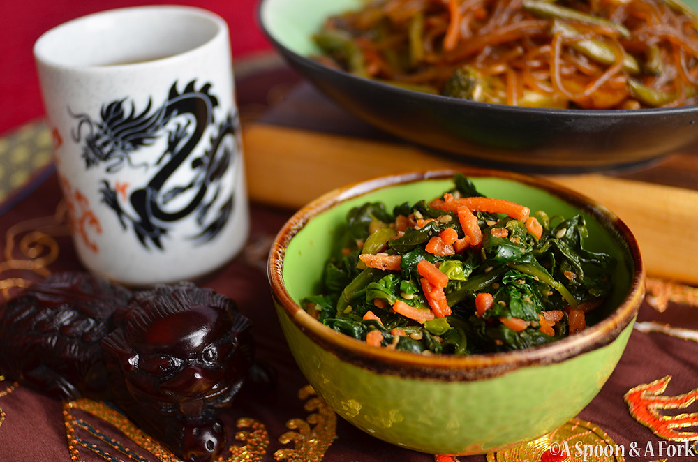 Korean Sesame Spinach Salad