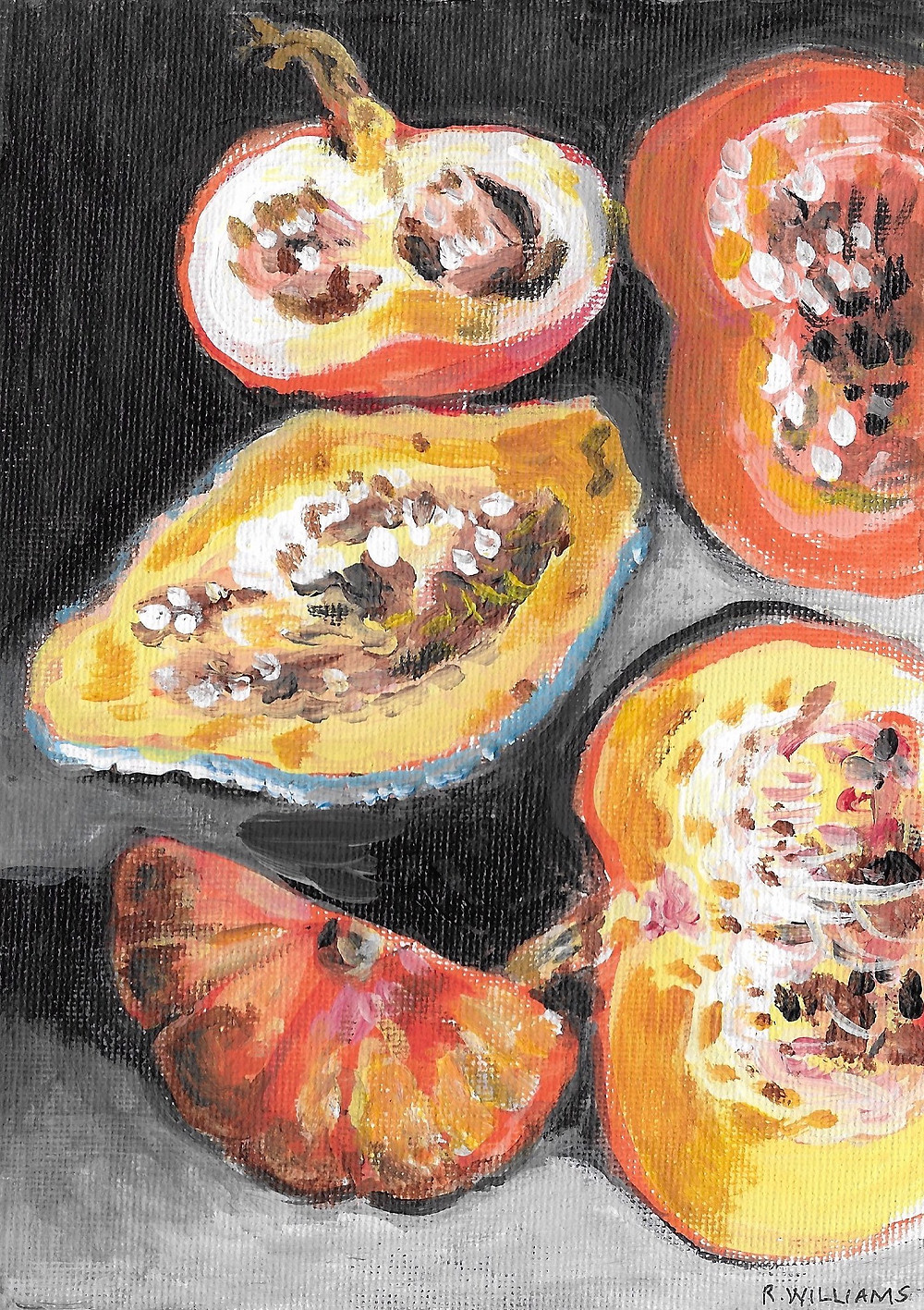 Squash, Pumpkins and Seeds Drawing