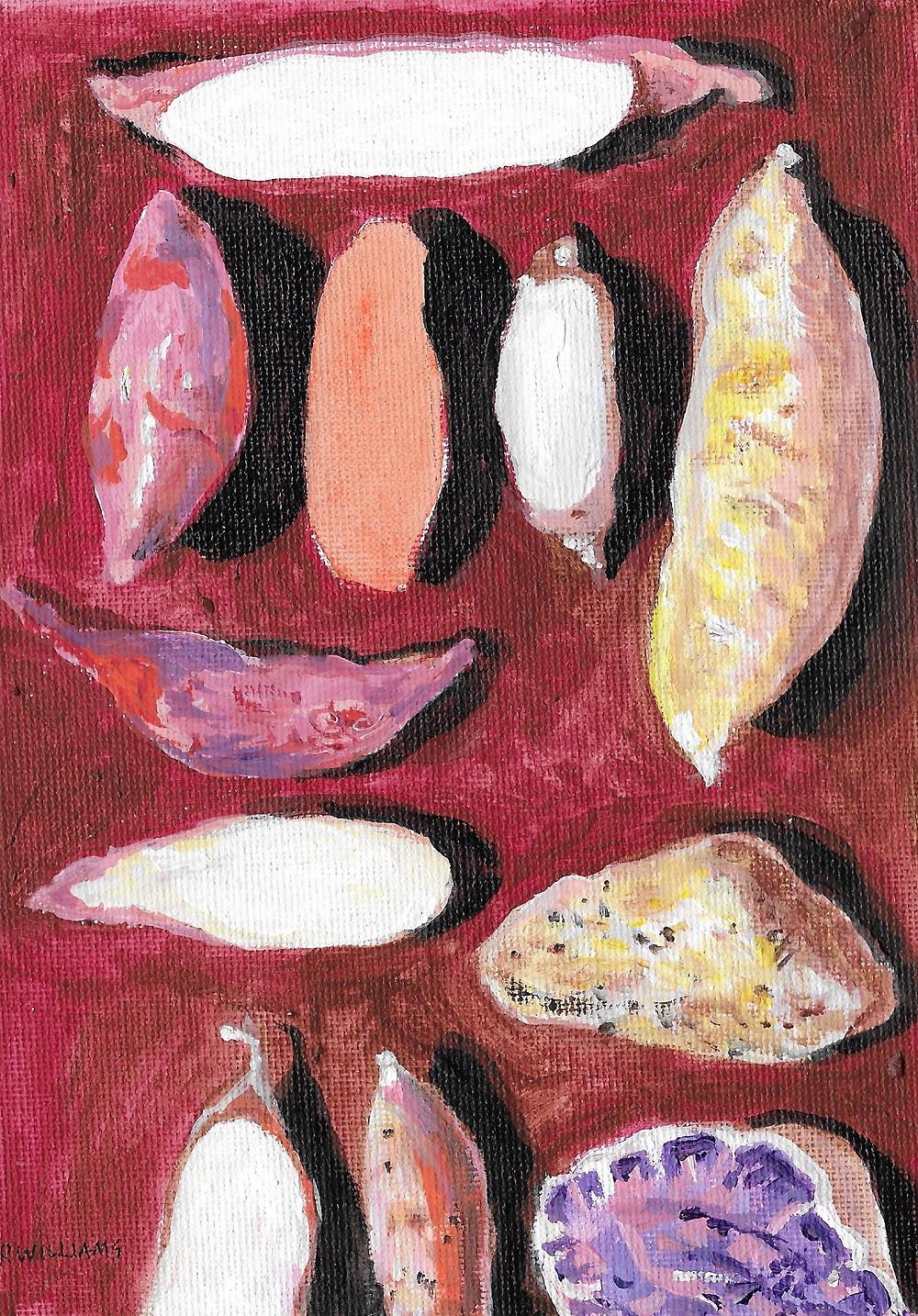 Potato Varieties Drawing