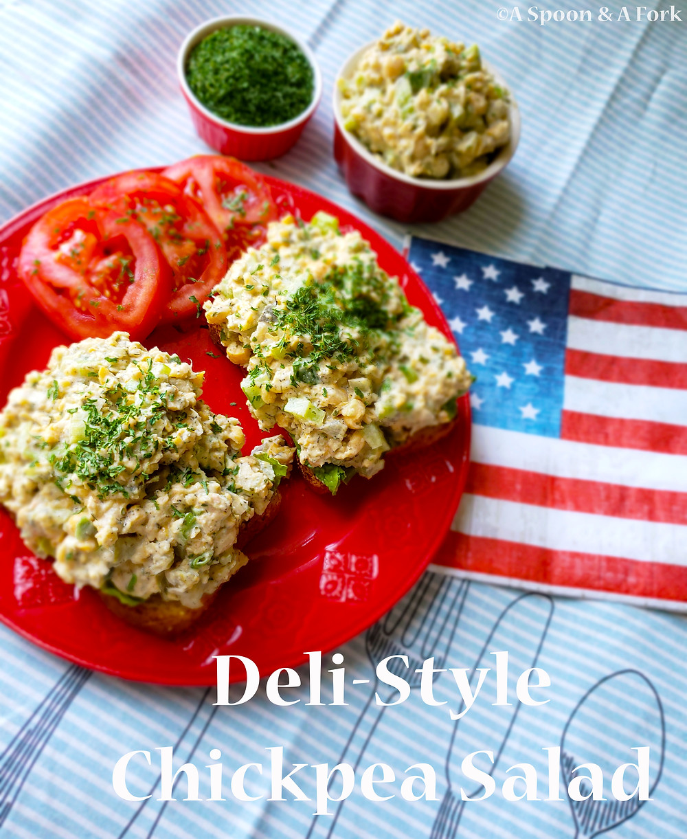 Deli-Style Chickpea Salad patriotic