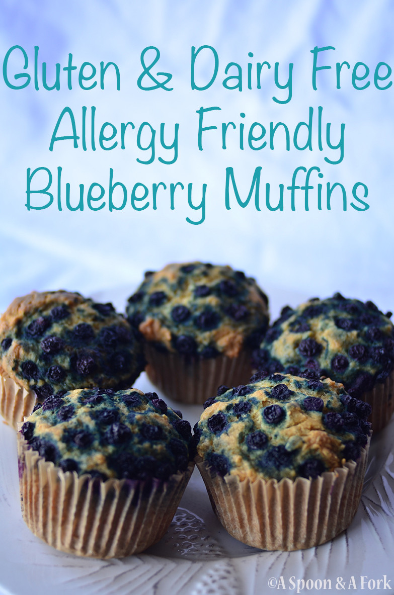 Allergy-Friendly Blueberry Muffins on a Plate