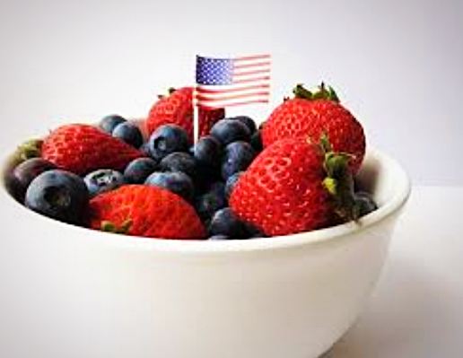 Berry Salad with American Flag