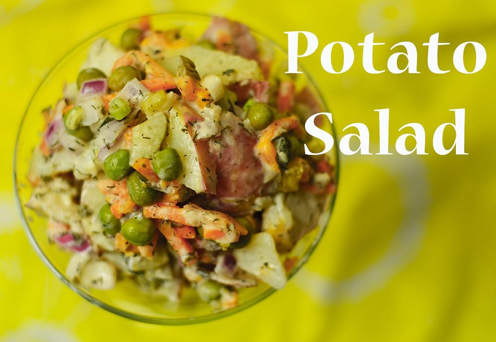 Creamy Herbed Potato Salad top view