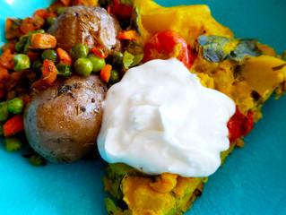 Fully Loaded Chickpea Flour Spanish Omelet - Allergy-Friendly, Gluten-Free, Egg-Free, Soy Free, Vega