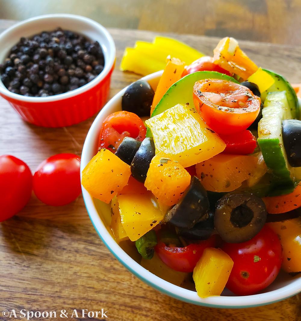Joy's Rainbow Salad close-up