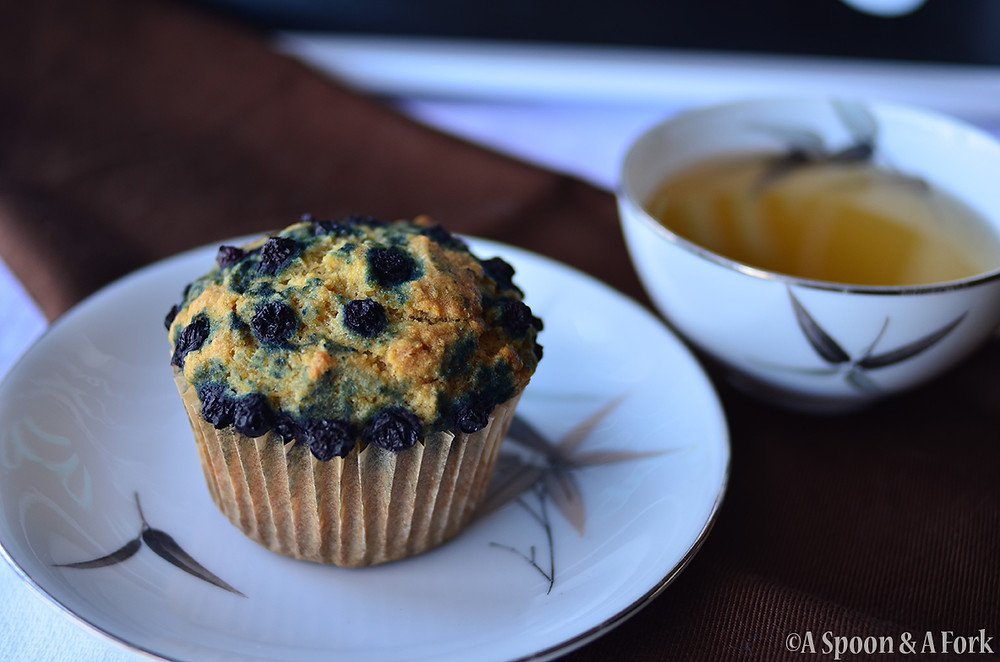 Allergy-Friendly Blueberry Muffin with Tea