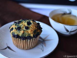 Blueberry Muffins - Allergy-Friendly, Vegan, Gluten-Free, Oil-Free, Nut-Free, Soy-Free