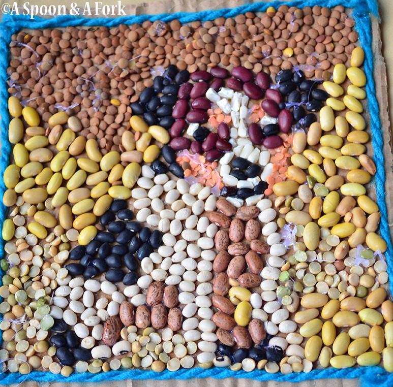 Dog Made of Beans Art