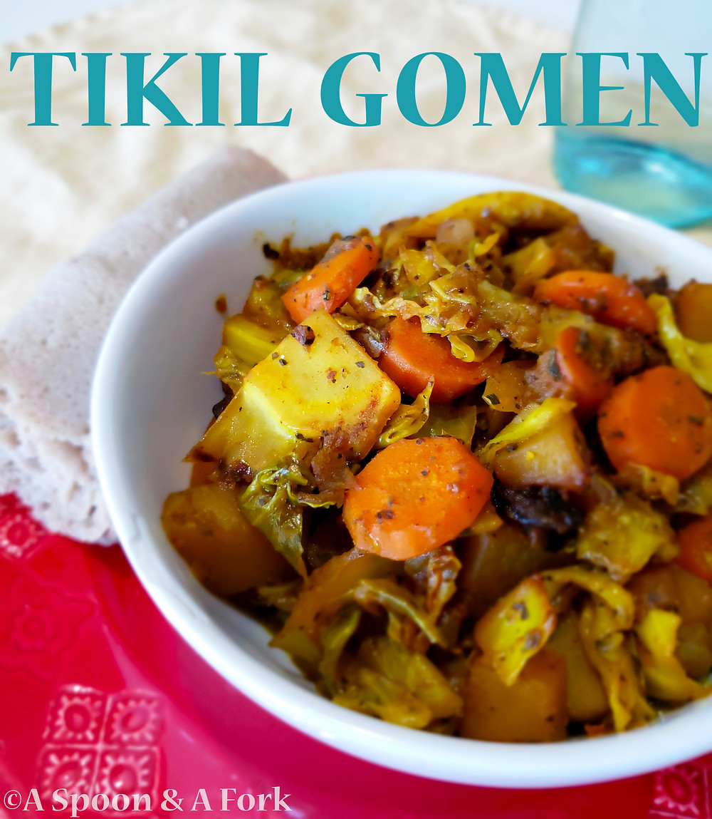 "Ethiopian Cabbage ""Stew"" or Tikil Gomen"