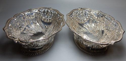 Pair of Victorian Silver Bon Bon Dishes(DKS/599)
