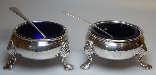 Pair of Silver George II Salts 1738 (CB/475)