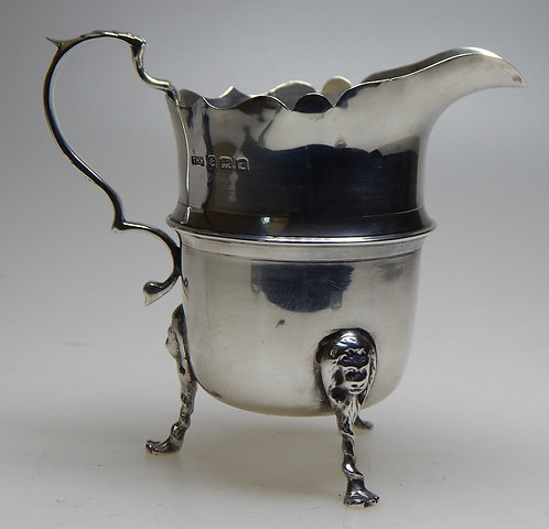 Attractive Silver George V Cream Jug
