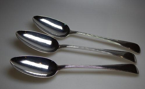 Three Georgian Silver Table Spoons)CB/476)