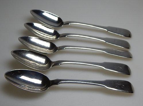 Set of Five Georgian Silver Teaspoons(CB/477)