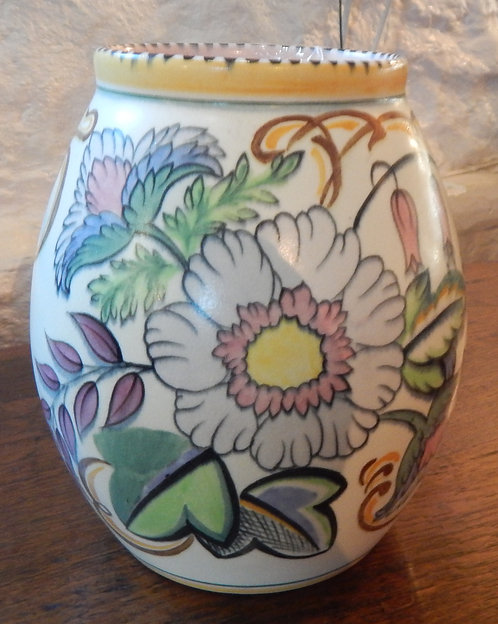 A Lovely Staffordshire Fantasy Ware Vase (COT/504)
