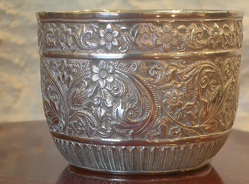 Victorian Silver Glided Sugar Bowl (DKS/186)