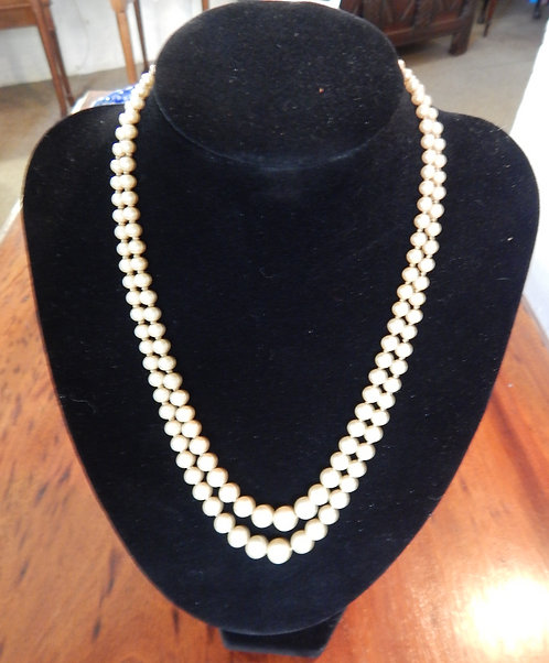 A Lovely Double Strand Pearl Necklace ( DKS/487)