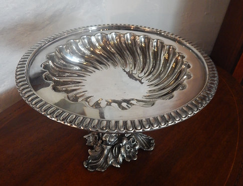 A Beautiful Silver Plated Tazza (DKS/476)